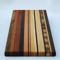 Hardwood Cutting Board w/ End Grain Inlay 8 x 9 by AjjAWood