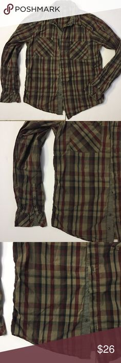 Zara men plaid warm Burgundy tan Button Down shirt Zara men plaid warm Burgundy tan Button Down shirt. In excellent condition. No flaws.  Two front pockets. Size is XL. ❓Ask if have any question.  👔 all items come from smoke free home and washed 👢always open to offers 👖bundle the items that you like for private discount 👒like this item, check my closet for other items. Zara Shirts Casual Button Down Shirts