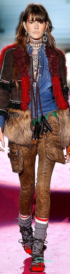 66 Super Ideas For Moda Boho Winter Fall 2015 Fur Fashion, Denim Fashion, Fashion Brands, Winter Fashion, Fashion Show, Womens Fashion, Milan Fashion, Fashion Videos, Bohemian Fashion