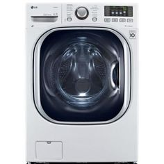 All-In-one washer/dryer- LG Electronics cu. Washer and Electric Ventless Dryer in - The Home Depot Lava E Seca Lg, Lave Linge Lg, Stainless Steel Drum, Laundry Solutions, Laundry Appliances, House Appliances, Lg Electronics, Front Load Washer, Laundry Room Storage