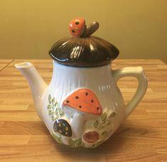 Vintage Ceramic Mushroom Teapot Tea Pot