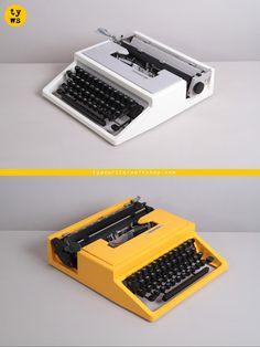 Olivetti Dora, a 1965 Ettore Sottsass design. Also re-branded Olivetti Lettera 31, 27 or S, Underwood 310, Mercedes, … http://www.etsy.com/shop/TypewriterWshop