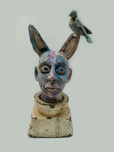 """""""A Birdy Told Me"""" clay and found objects by Nicole Merkens  :)"""