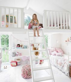 little girls bedroom ideas | bedrooms is designed for two little girls has two parts bed the top ...