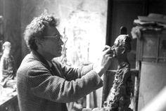 Alberto Giacometti en su estudio
