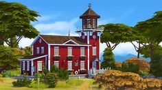 Windy Island Lighthouse is a remake of a lot I built for Someone requested that I upload it, so here it is! I haven't decided what I want it to be in my world yet, so it's currently empty and. Sims 4 House Plans, Sims 4 House Building, My Sims, Sims Cc, Sims 3 Island Paradise, Sims 4 House Design, The Sims 4 Lots, Casas The Sims 4, Sims 4 Build