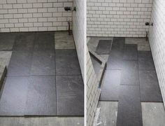 Tile Bathroom, A Bathroom With White Small Tile Wall Bathroom With Combine Gray Tile Stone Tile For Floor Bathroom With Cool Combination And Better For Theme To Use Both Of Thr Tile Bathroom ~ Laying Tile In Bathroom Floor With Some Kinds Of Tile Wall And Floor Bathroom