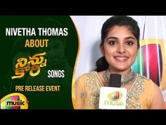 Nivetha Thomas about Ninnu Kori Movie Songs, Ninnu Kori Movie Pre Release Event on Mango Music. #NinnuKori Telugu movie ft. Nani, Nivetha Thomas and Aadhi Pi...
