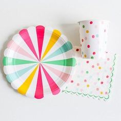 'It's a Party' Small Pinwheel Plates available at Shop Sweet Lulu