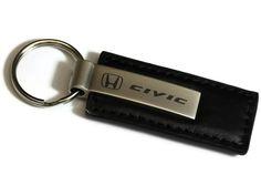 Genuine Leather Key Chain USA American Flag Pattern Leather Key Ring Car Key Fob