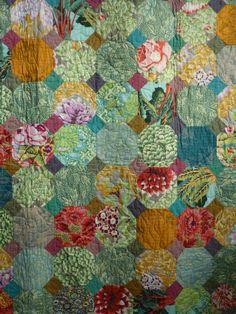 Hearts of Hampshire: Colour on a grey day.....Snowballs using Kaffe Kassett fabrics
