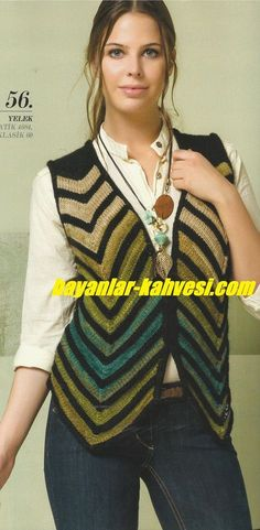 Expression of oblique vest – Güzide Yilmaz – Join in the world of pin Baby Knitting Patterns, Knitting Designs, Simple Elegant Dresses, Evening Dress Patterns, Shrugs And Boleros, Diy Kleidung, Diy Mode, Girls Tunics, Crochet Jacket