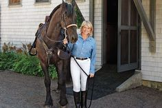 In case you didn't know, Martha Stewart is a passionate animal lover. She has a variety of house and barn pets, including her Friesians. Martha has been an avid rider for a number of years. She has a beautiful stone barn and lush pastures. Her breed of choice is the Friesian. Their beauty and impressive nature make them dreamy!