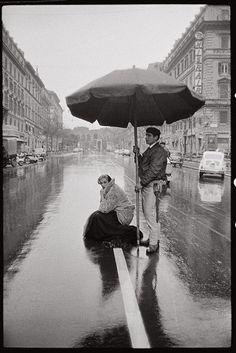 Anita Ekberg during the filming of La Dolce Vita (1962, dir. Federico Fellini).