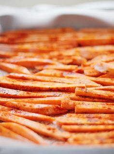 Smoked Paprika Sweet Potato Fries with Spicy Lime Dipping Sauce