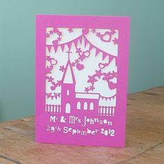 Personalised Laser Cut Wedding Card - wedding cards & wrap