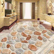 Benutzerdefinierte 3d Boden Fliesen Kiesel Foto Tapete