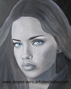 portrait painting acrylics on canvas Adriana Lima
