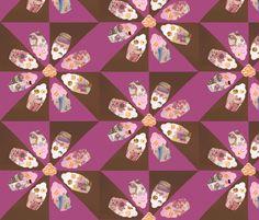 Magazine cupcakes fabric by baśkaambiv on Spoonflower - custom fabric