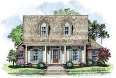 Thomas - Acadian House Plans/Cottage Home Plans