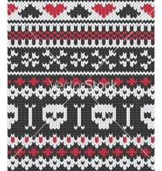 Knitted pattern with skulls vector 711725 - by evdakovka on VectorStock®
