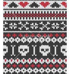 Knitted pattern with skulls vector 711725 - by evdakovka on VectorStock®
