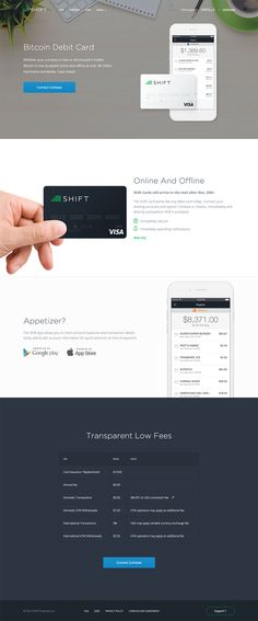 Shift Landing Page #webdesign