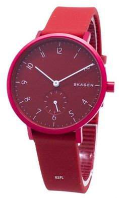 Features: Stainless Steel Case Silicone Strap Quartz Movement Mineral Crystal Red Dial Analog Display Pull/Push Crown Solid Case Back Buckle Clasp Water Resistance Approximate Case Diameter: Approximate Case Thickness: Skagen Watches, Watch Sale, Stainless Steel Case, Jewelry Stores, Quartz, Crystals, Display, Water, Accessories