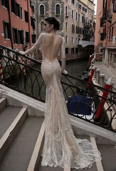 Ebellished-wedding-dress-with-low-back-Inbal-Dror-Venice-Collection-2015