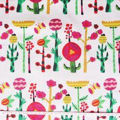 <3 <3 !! Kokka japanese fabric summer flowers Emo Emo by LAtelierDeCleo