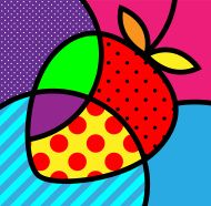 cherry pop-art ilustración vectorial