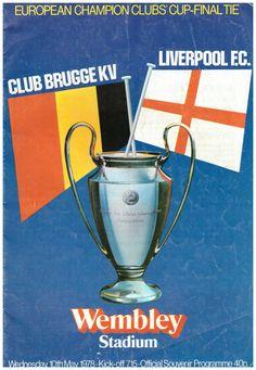 1978 European Cup Official Programme Club Bruges v Liverpool Pure Football, Retro Football, European Football, Liverpool Football Club, Liverpool Fc, Touko Pokemon, Football Memorabilia, European Cup, Wembley Stadium