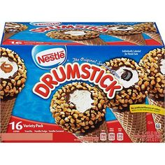 Nestlé Drumsticks Cone Variety Pack, Oz, Box Of 16 Cones Nestle Drumstick, Drumstick Ice Cream, Frozen Appetizers, Frozen Desserts, Ice Cream Coupons, Ice Cream Novelties, Ice Cream Freeze, Vanilla Fudge, Sugar Cones