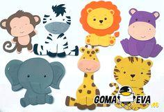 Fofuchas Planas Animales. Varios ejemplos de fofuchas animales para que activéis vuestra imaginación y creatividad! Ejemplos de DIY. Es muy fácil, atrévete!