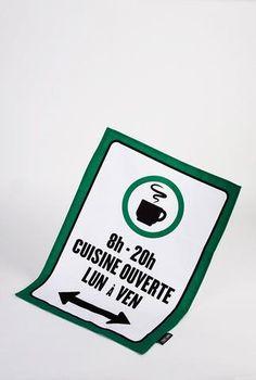 Montreal Parking Sign Tea Towel Set - Main and Local Parking Signs, Towel Set, Tea Towels, Montreal, House, Dish Towels, Kitchen Towels