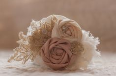 Or maybe this one! Shit this is hard! Bridal Hairpiece in Ivory and Beige  by LovelyLadyAccessory, $28.00