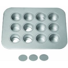 Chicago Metallic's Mini Cheesecake Pan. Removable/push-through bottoms makes it easy to remove your treats. $17 at Amazon.