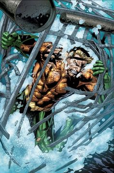 Just in time for the incoming 'Throne of Atlantis' crossover with 'Justice League,' Paul Pelletier returns to DC Comics to draw 'Aquaman. Comic Book Characters, Comic Book Heroes, Marvel Characters, Comic Character, Comic Books Art, Comic Art, Aquaman Dc Comics, Arte Dc Comics, Ocean Master