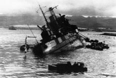 USS Utah capsizing at Pearl Harbor - December 7, 1941