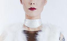 Mistral $45  #choker #chokernecklace #chokerleather #leather #fishleather #jewelry #fashionjewelry #necklace #fashion #edgy #minimal