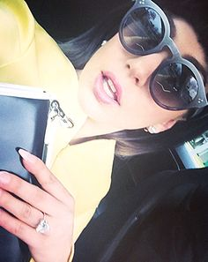 See new, up-close photos of Lady Gaga's brilliant heart-shaped engagement ring as she celebrated her best friend's wedding week
