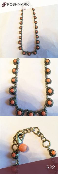 "ANTHROPOLOGIE CORAL STONE NECKLACE ANTHROPOLOGIE CORAL STONE NECKLACE. 17-19"" long Anthropologie Jewelry Necklaces"