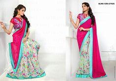 Buy Designer Georgette Pink #Saree