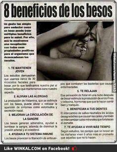 8 beneficios de los besos