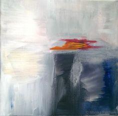 Die Elemente - Luft III   -   Acryl auf Leinwand   -   20 x 20 cm