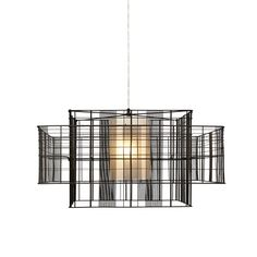 The Mesh Cubic Medium Pendant Light is geometry personified with its astutely interconnected squares and rectangles that create patterns as light wafts through it. Interior Lighting, Modern Lighting, Lighting Design, Ceiling Lamp, Chandelier Lighting, Ceiling Lights, Modern Chandelier, Bar Lighting, Luminaire Suspension Design