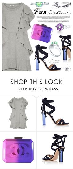 """""""Grab and Go: Cute Clutches"""" by totwoo ❤ liked on Polyvore featuring Goen.J, Gianvito Rossi, Chanel and NARS Cosmetics"""