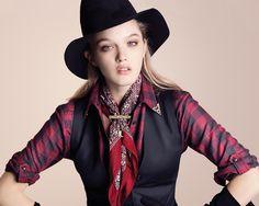 Dana Drori, la modelo de Paula Cahen D'Anvers para su campaña invierno 2012