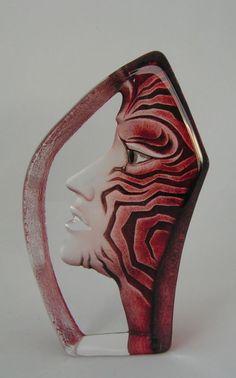 NEU /& OVP Maleras Art Glass Sculpture Thalia design Mats Jonasson original