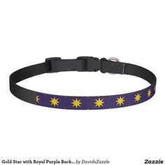 Gold Star with Royal Purple Background Dog Collar This design is available  on many products! Click the link and hit the 'Available On' button near the product description to see them all! Thanks for looking!  @zazzle #star #pattern #decor #home #design #dog #bed #pet #animal #friend #family #accessory #accessories #buy #sale #shop #shopping #owner #fun #sweet #fido #woof #awesome #cool #chic #modern #style #bed #collar #leash #bowl #tag #color #blue #navy #black #purple #orange #grey #gray…